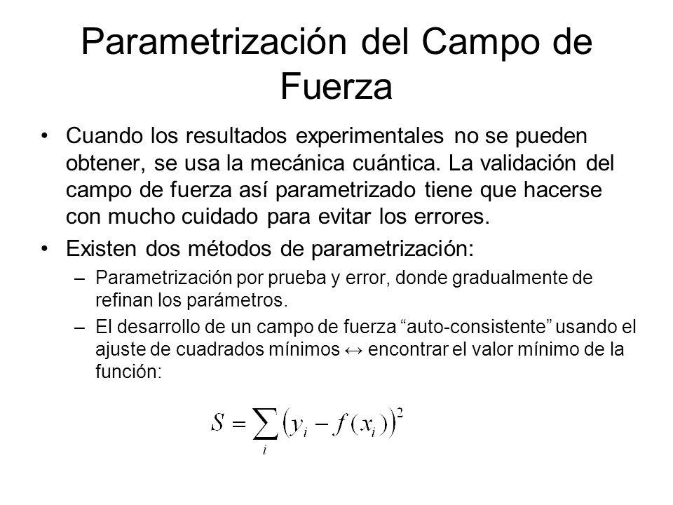 Parametrización del Campo de Fuerza