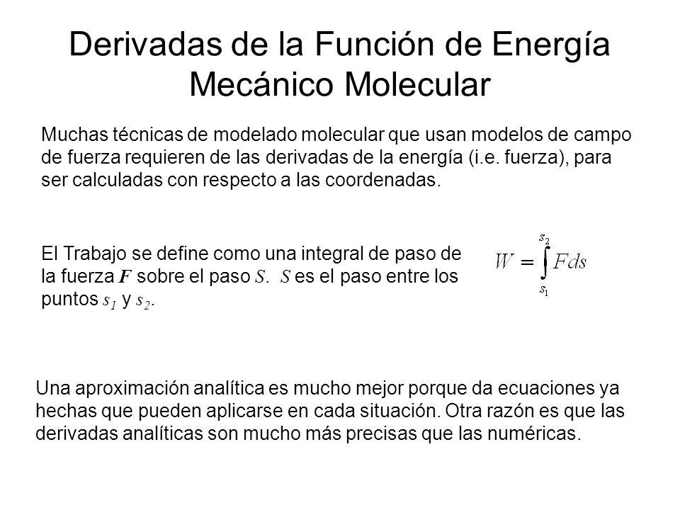 Derivadas de la Función de Energía Mecánico Molecular