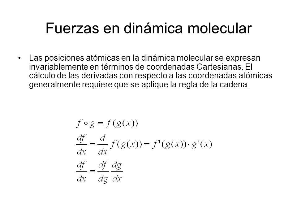 Fuerzas en dinámica molecular