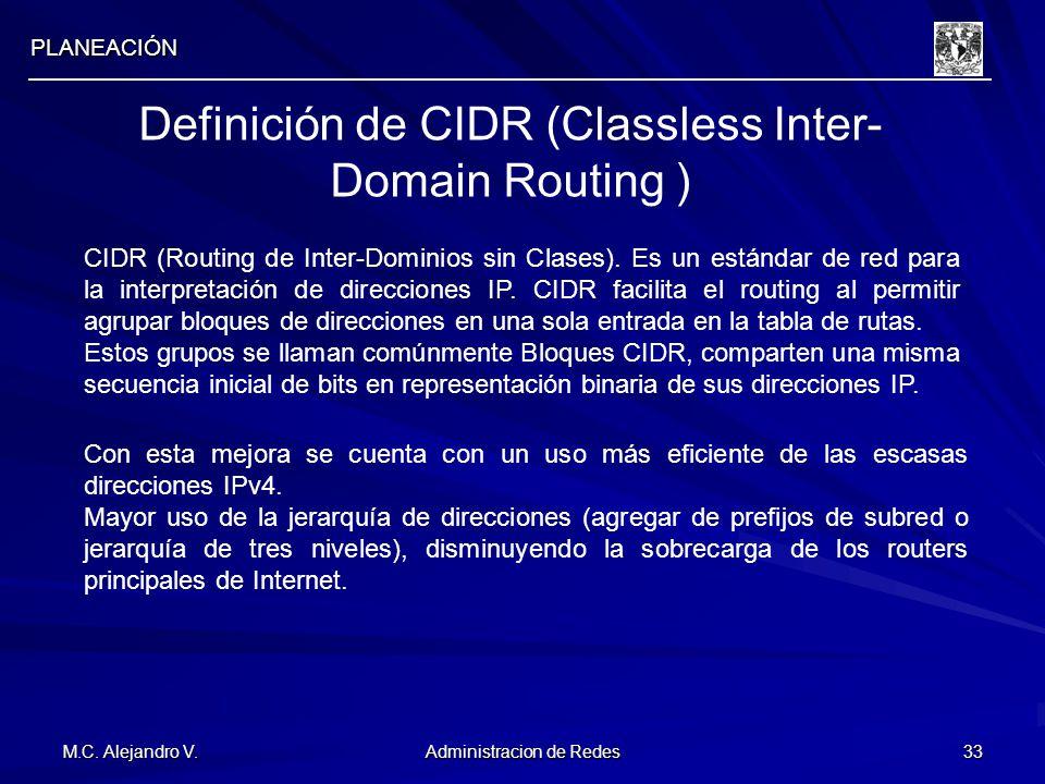 Definición de CIDR (Classless Inter-Domain Routing )