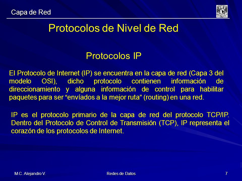 Protocolos de Nivel de Red