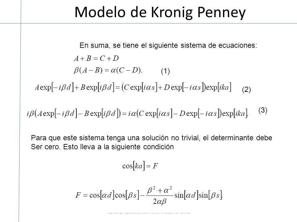 Modelo de Kronig Penney