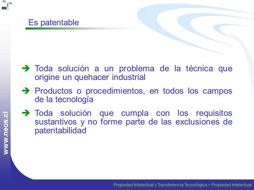 Productos o procedimientos, en todos los campos de la tecnología