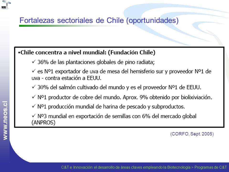 Fortalezas sectoriales de Chile (oportunidades)