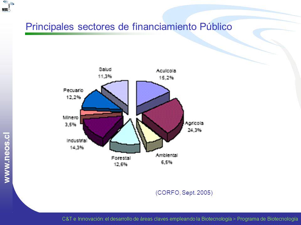 Principales sectores de financiamiento Público