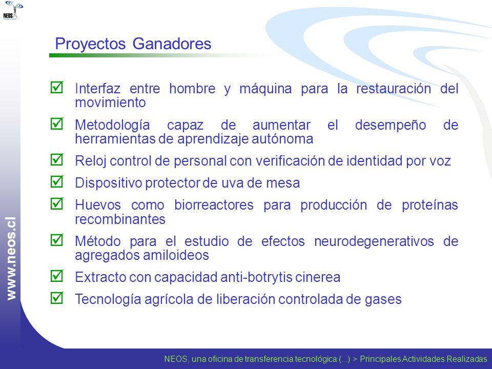 www.neos.cl Proyectos Ganadores. Interfaz entre hombre y máquina para la restauración del movimiento.