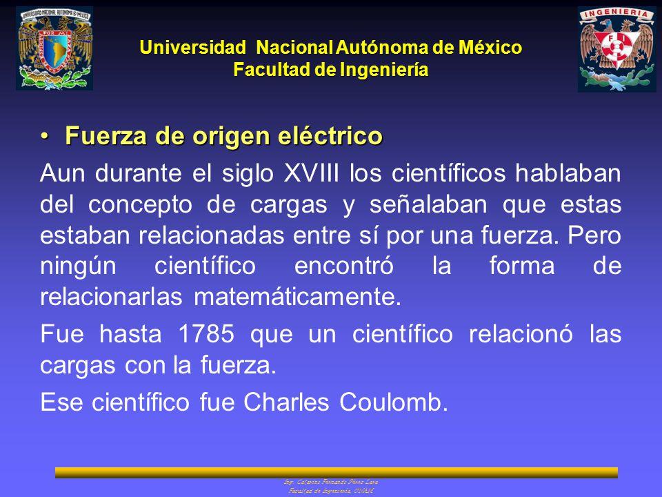 Fuerza de origen eléctrico