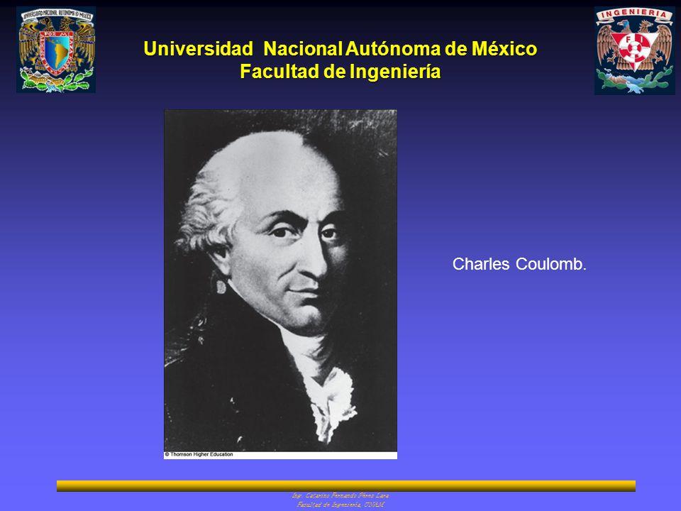 Charles Coulomb. Ing. Catarino Fernando Pérez Lara