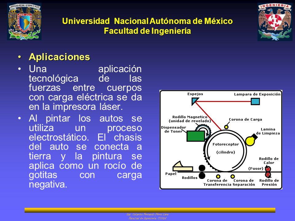 Aplicaciones Una aplicación tecnológica de las fuerzas entre cuerpos con carga eléctrica se da en la impresora láser.