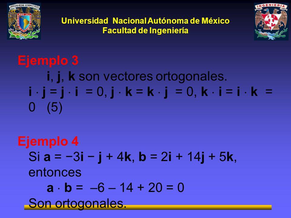 Ejemplo 3. i, j, k son vectores ortogonales