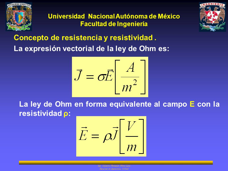 Concepto de resistencia y resistividad .