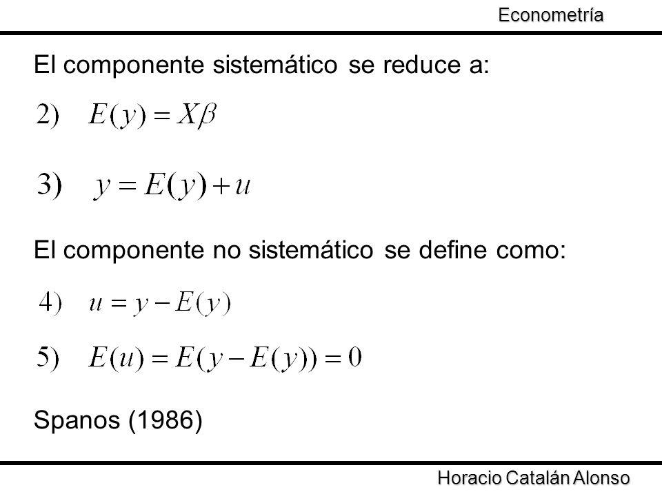 El componente sistemático se reduce a: