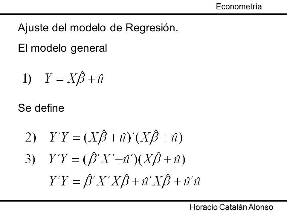 Ajuste del modelo de Regresión. El modelo general
