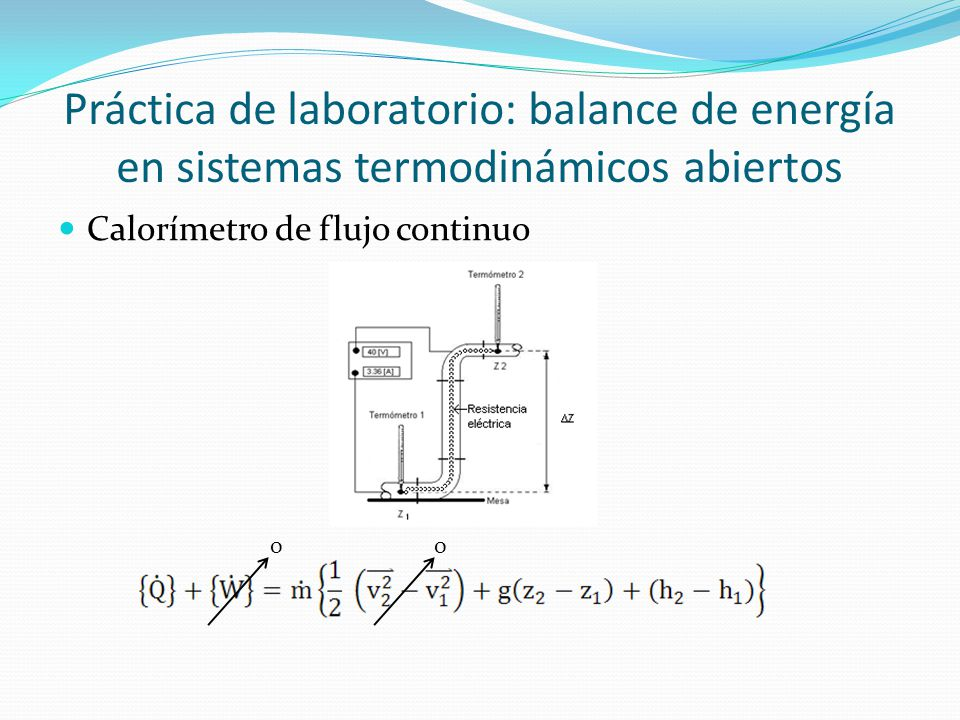Práctica de laboratorio: balance de energía en sistemas termodinámicos abiertos