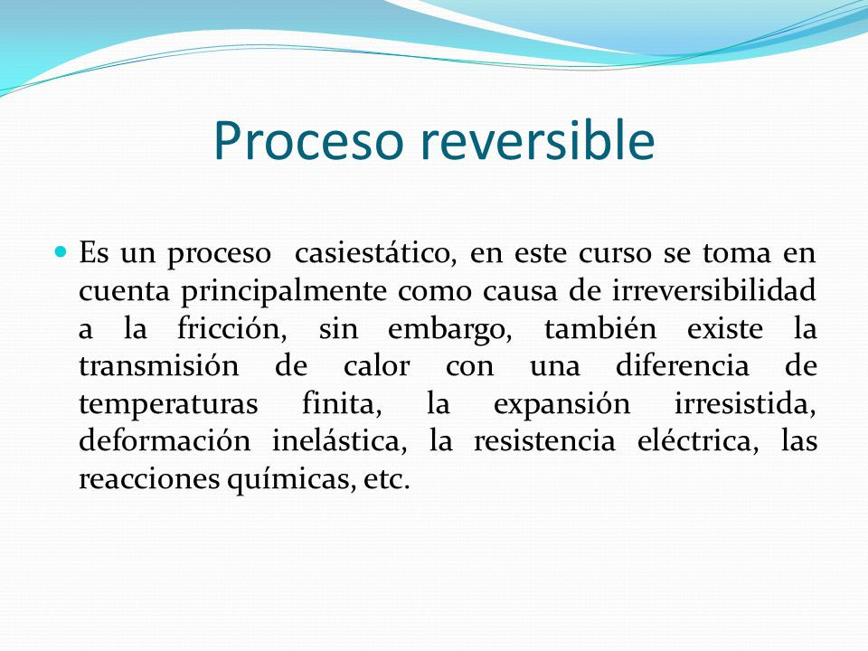 Proceso reversible