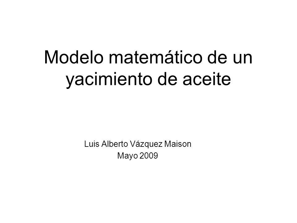 Modelo matemático de un yacimiento de aceite
