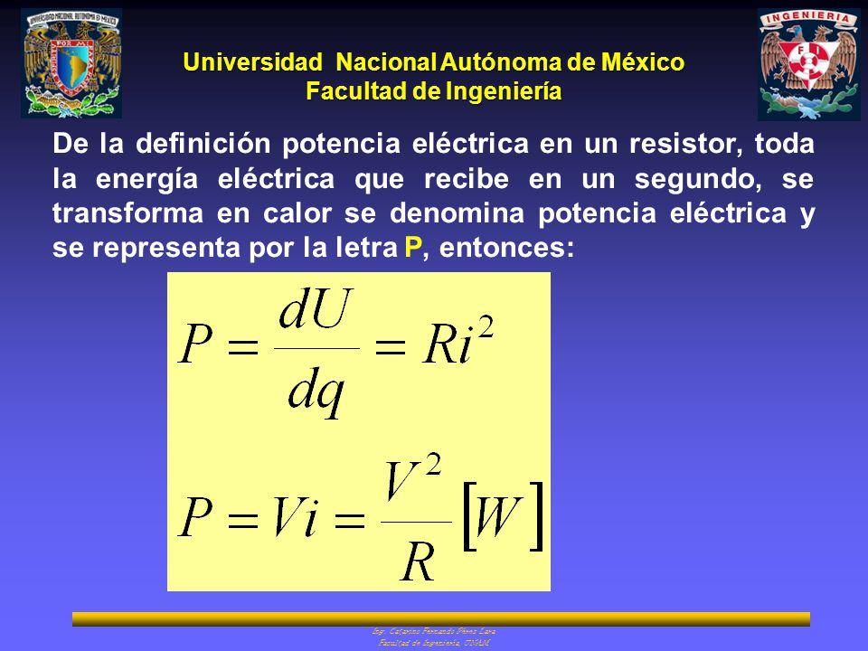De la definición potencia eléctrica en un resistor, toda la energía eléctrica que recibe en un segundo, se transforma en calor se denomina potencia eléctrica y se representa por la letra P, entonces: