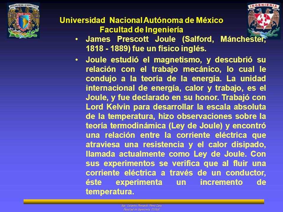 James Prescott Joule (Salford, Mánchester, 1818 - 1889) fue un físico inglés.