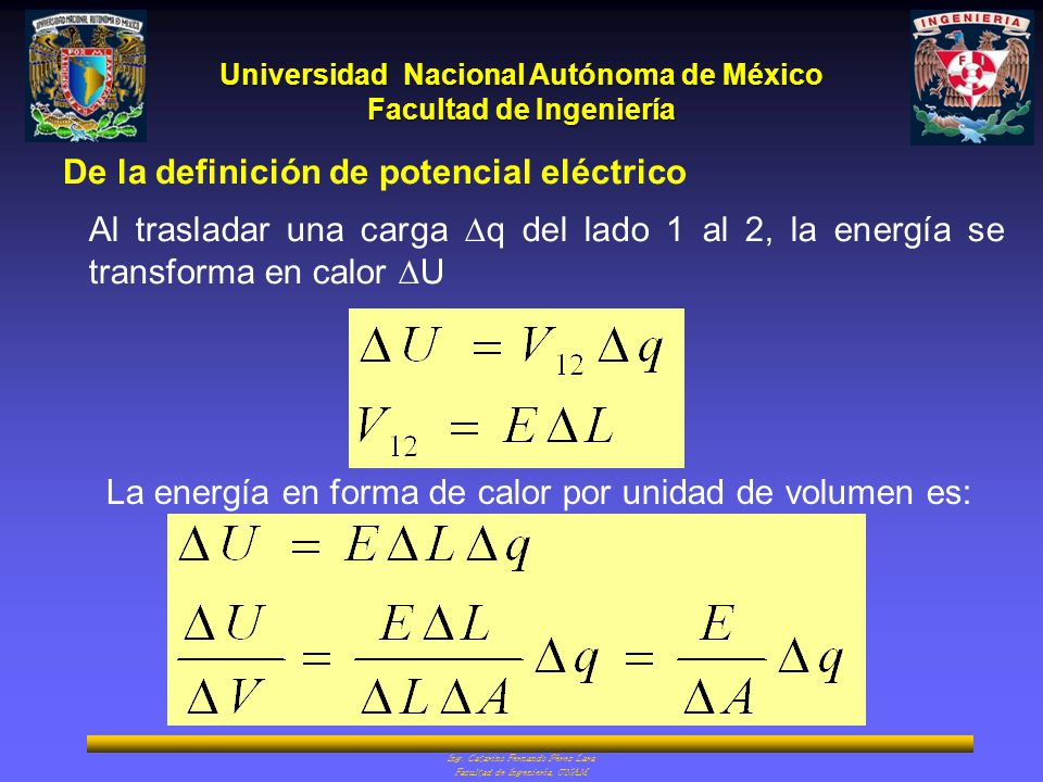 De la definición de potencial eléctrico