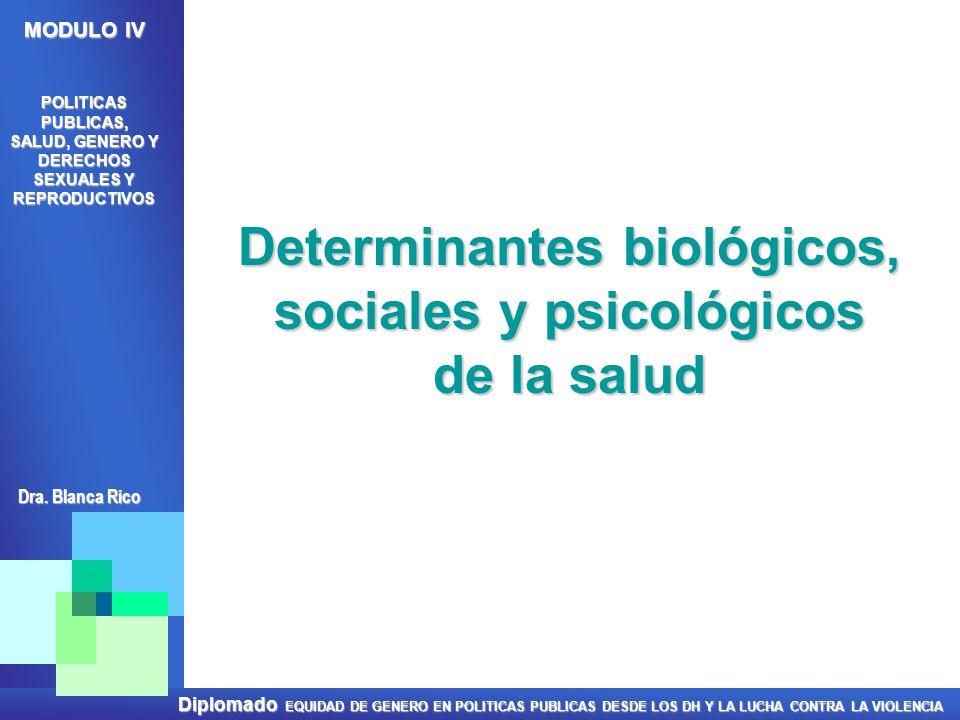 Determinantes biológicos, sociales y psicológicos de la salud