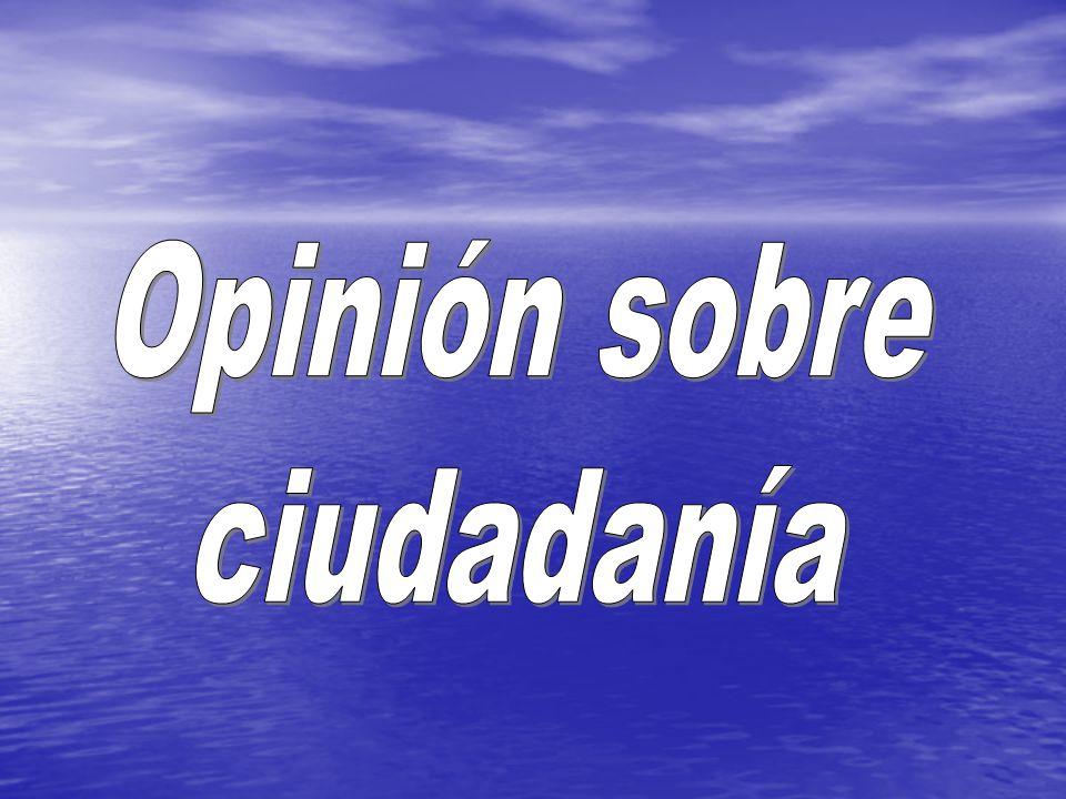Opinión sobre ciudadanía