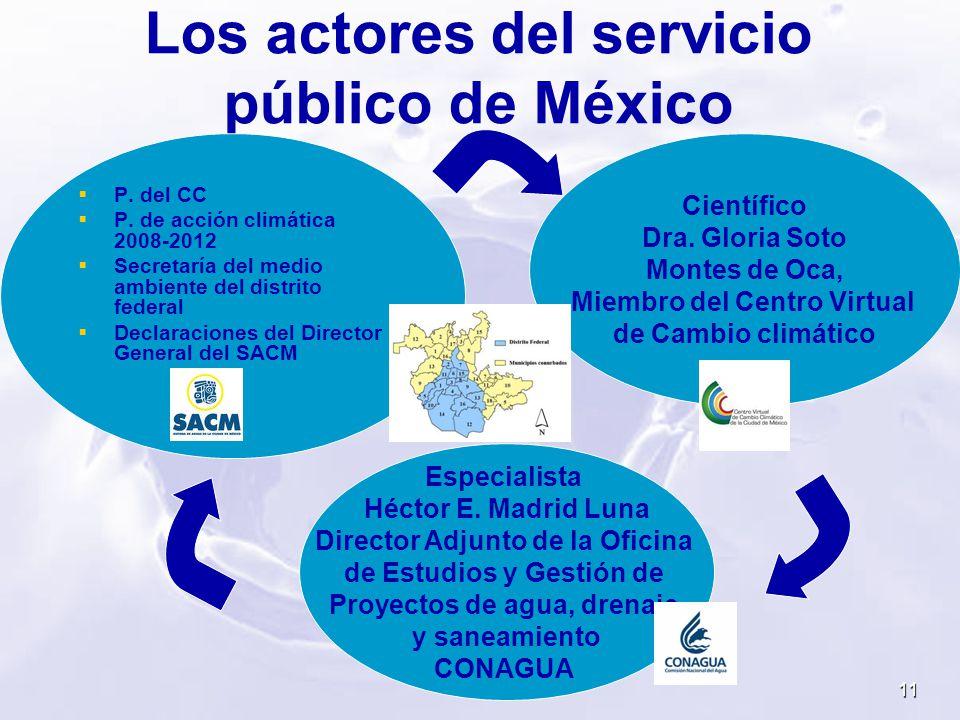 Los actores del servicio público de México