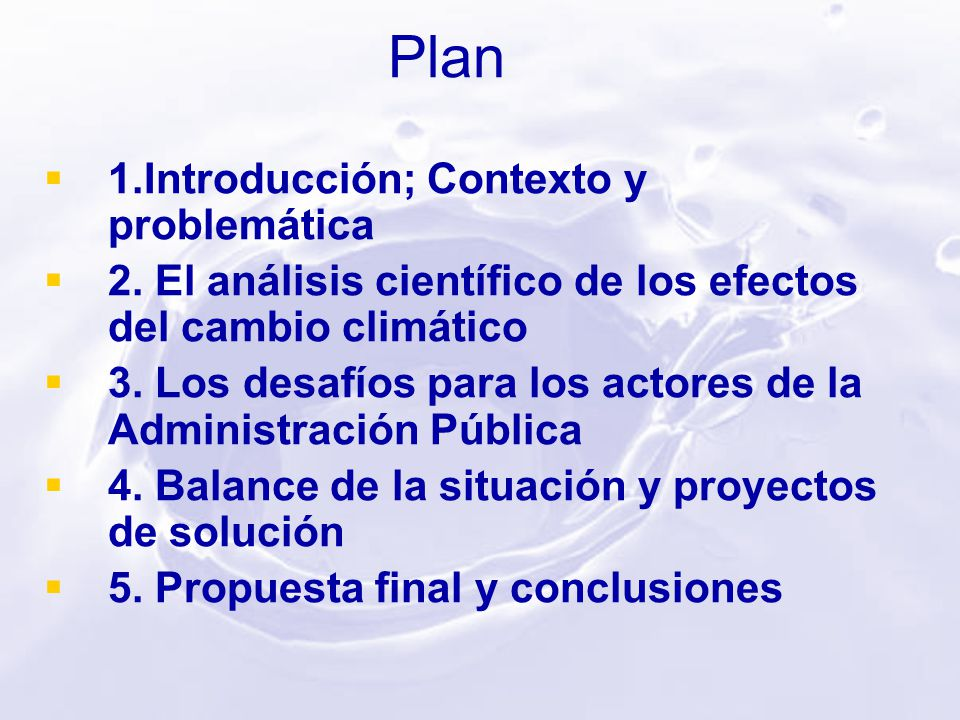Plan 1.Introducción; Contexto y problemática