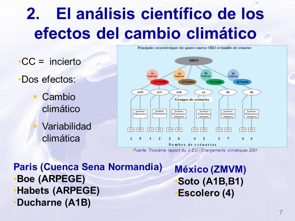 2. El análisis científico de los efectos del cambio climático