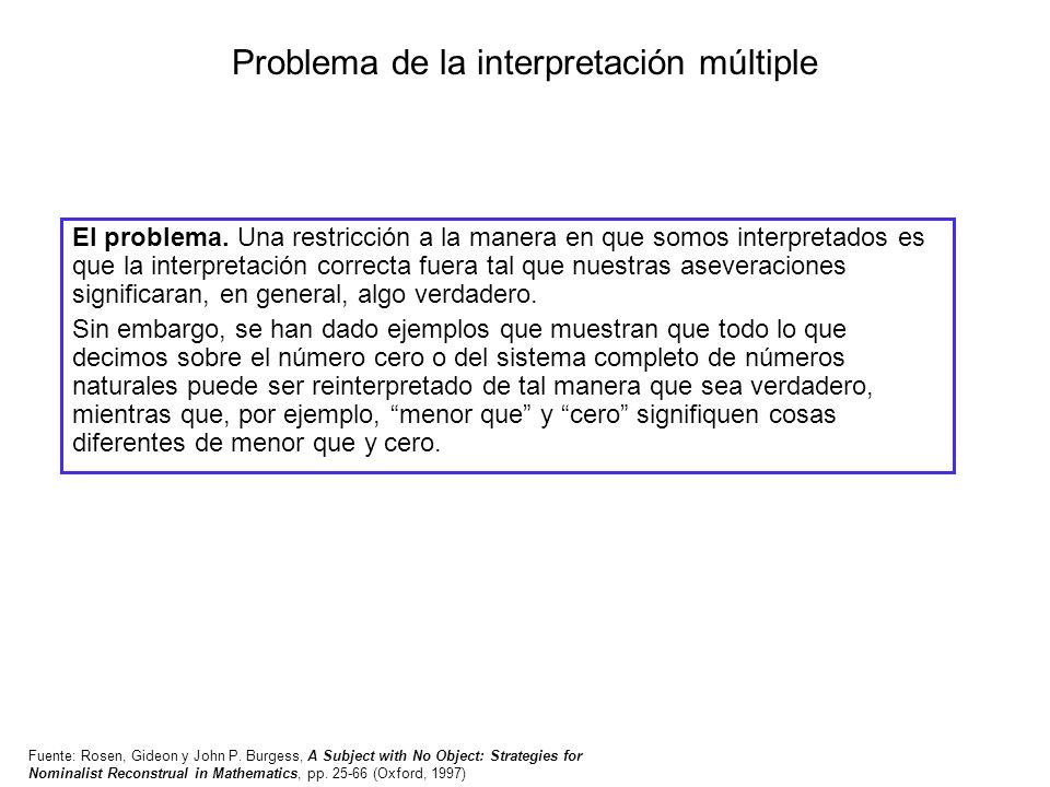 Problema de la interpretación múltiple