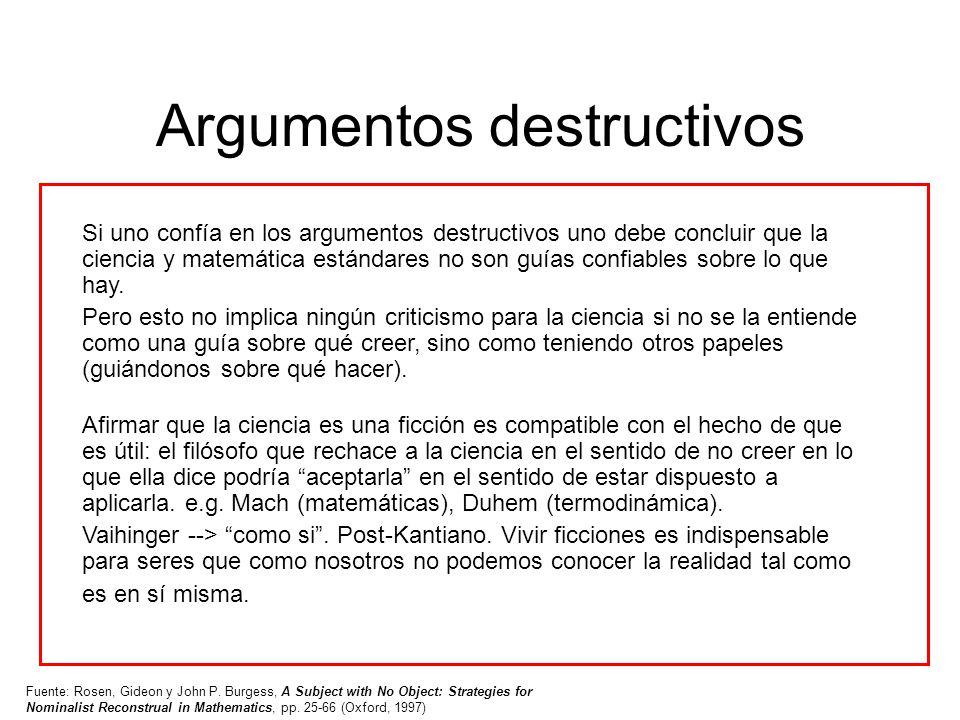 Argumentos destructivos