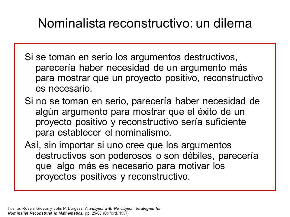 Nominalista reconstructivo: un dilema