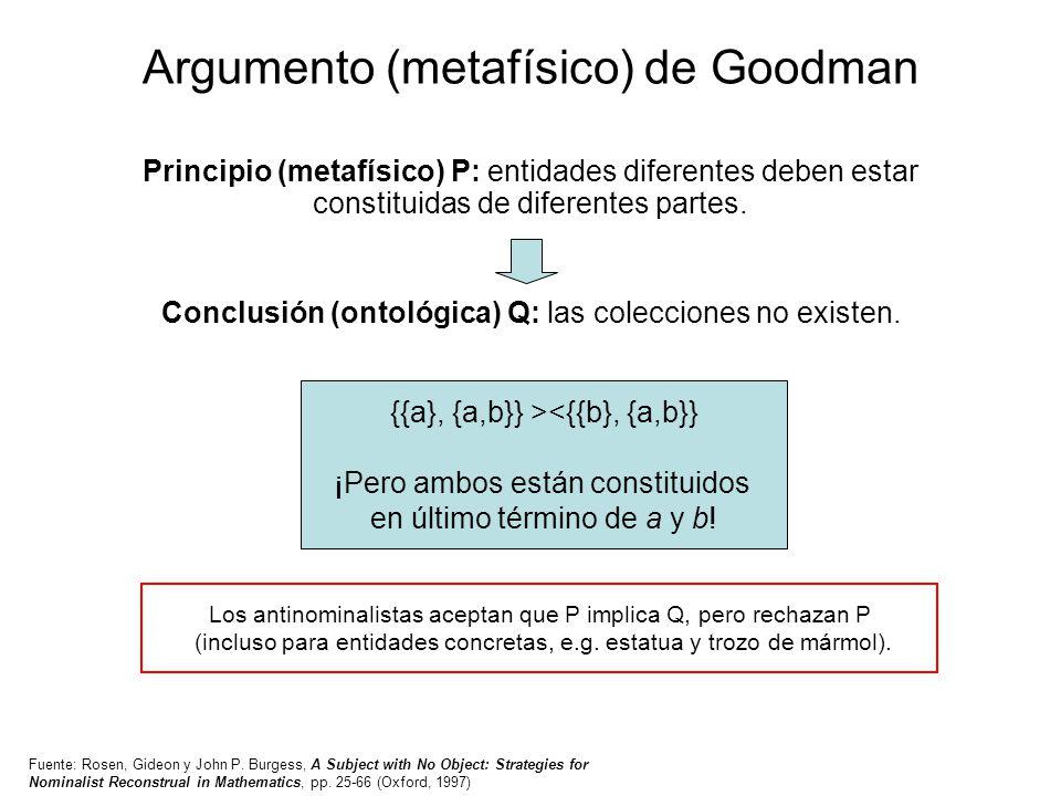Argumento (metafísico) de Goodman