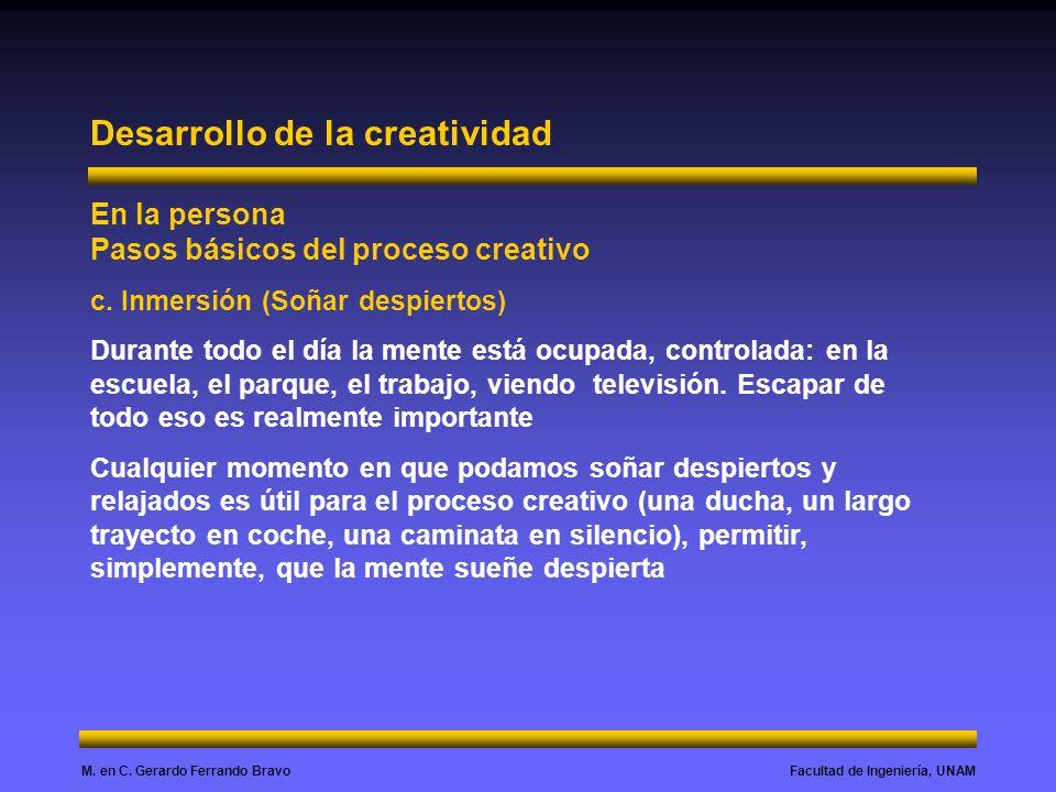 Desarrollo de la creatividad