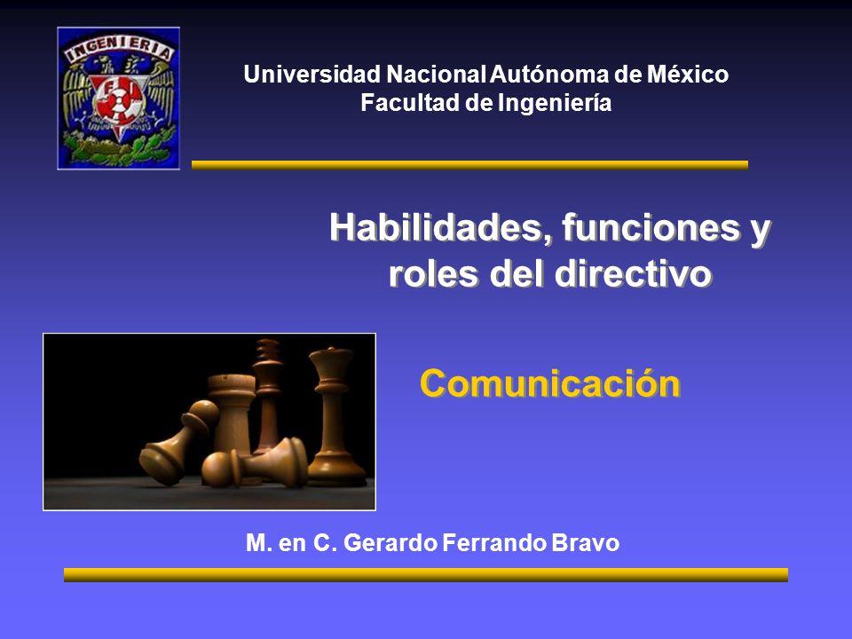 Habilidades, funciones y roles del directivo Comunicación