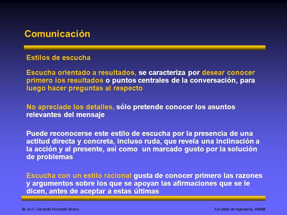 Comunicación Estilos de escucha