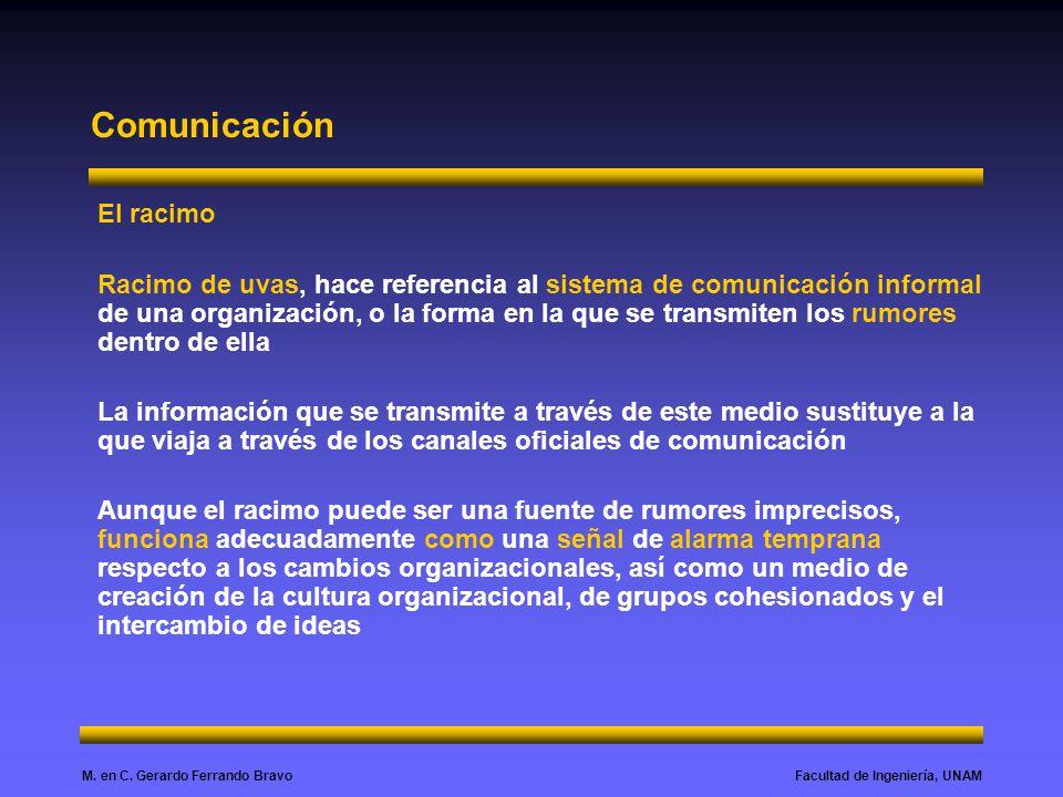 Comunicación El racimo
