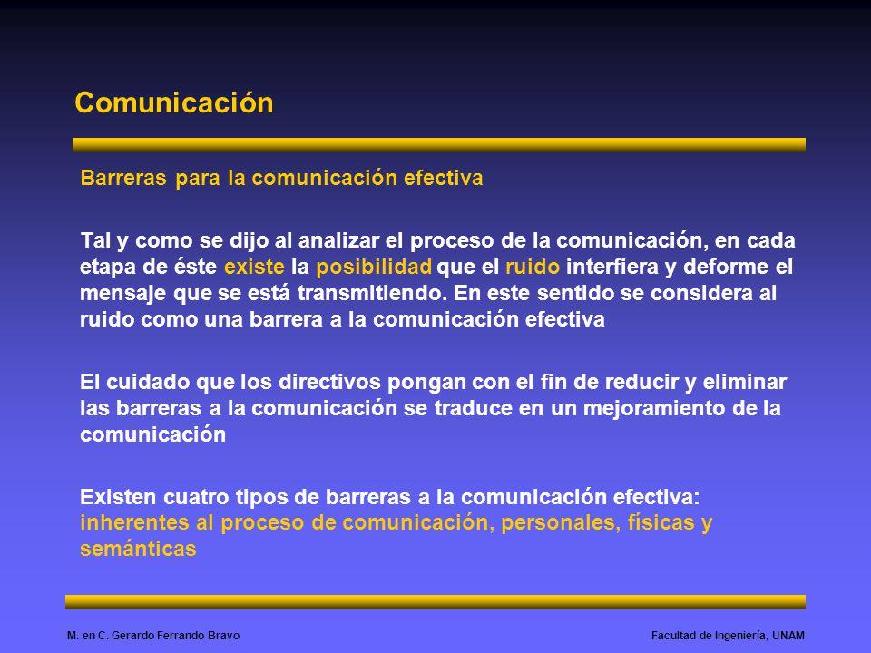 Comunicación Barreras para la comunicación efectiva