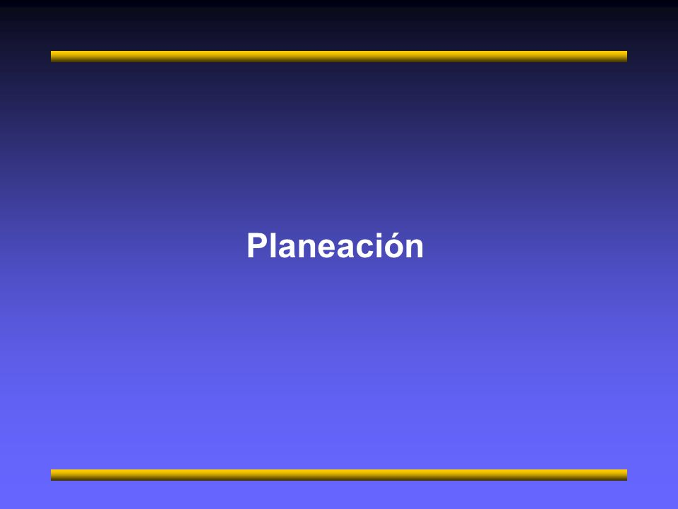 Planeación M. en c. Gerardo Ferrando Bravo