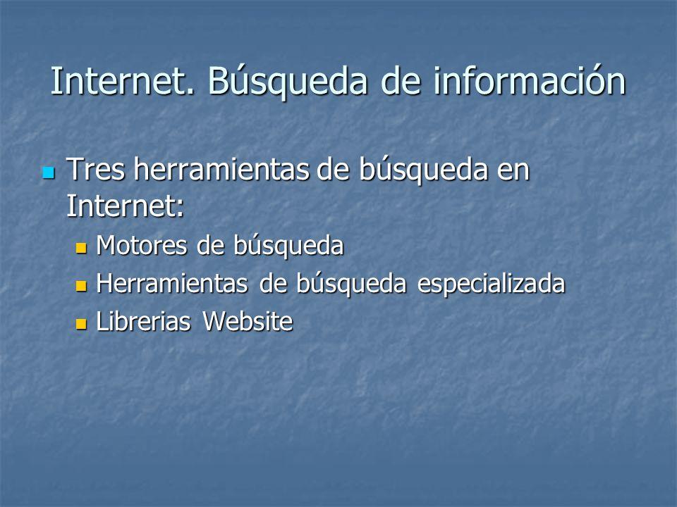Internet. Búsqueda de información