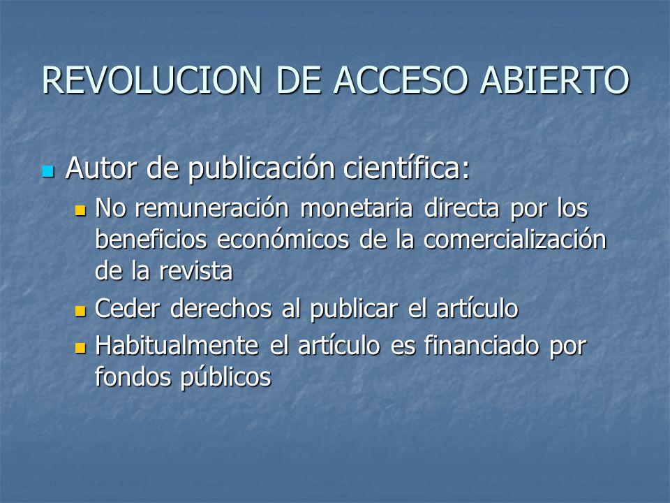 REVOLUCION DE ACCESO ABIERTO