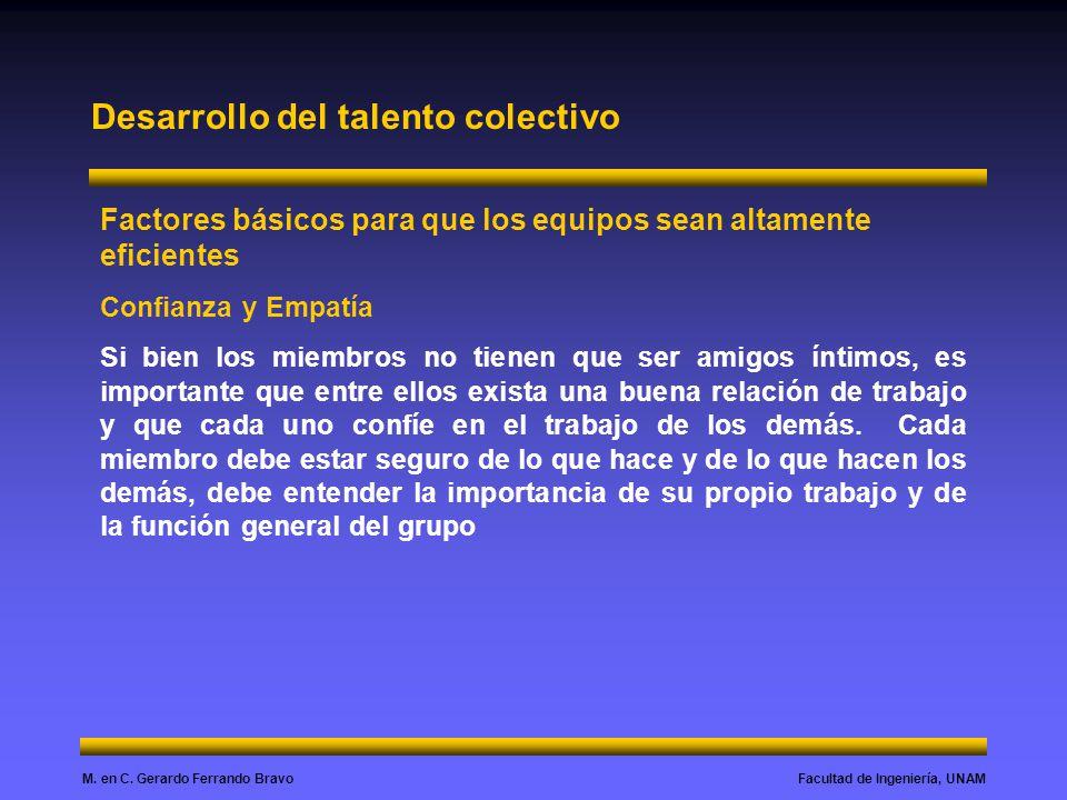 Desarrollo del talento colectivo