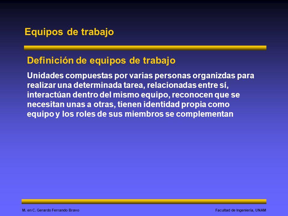 Equipos de trabajo Definición de equipos de trabajo