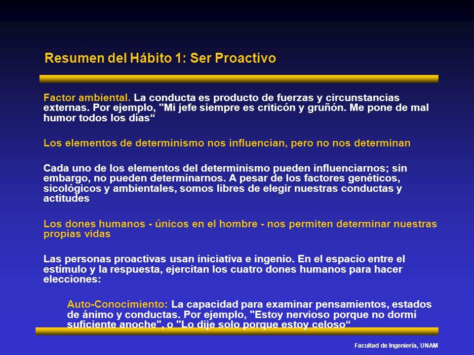 Resumen del Hábito 1: Ser Proactivo