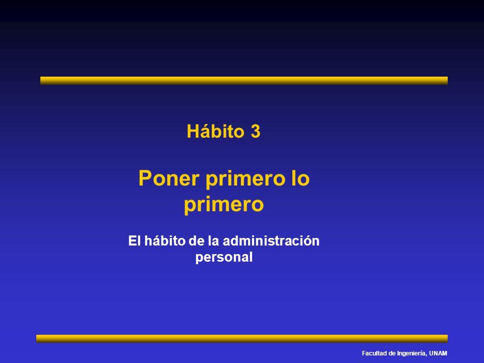 Hábito 3 Poner primero lo primero El hábito de la administración personal