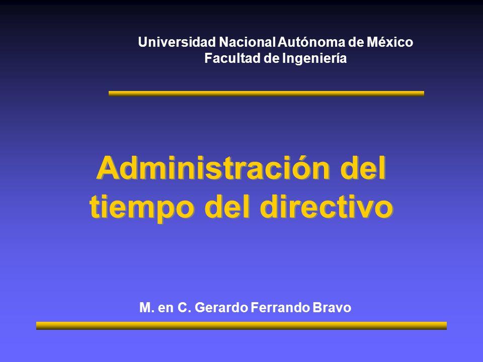 Administración del tiempo del directivo