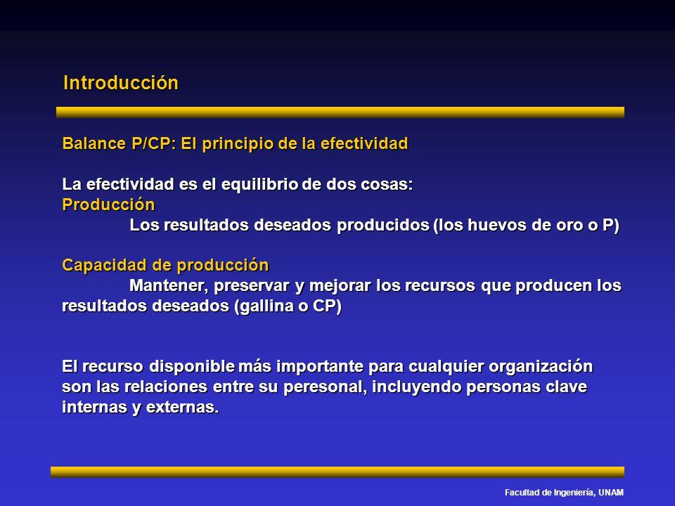 Introducción Balance P/CP: El principio de la efectividad
