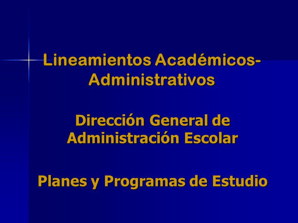 Lineamientos Académicos- Administrativos