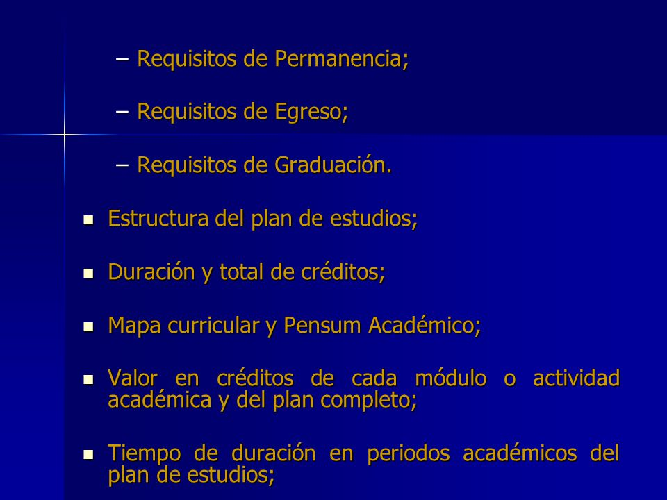 Requisitos de Permanencia;