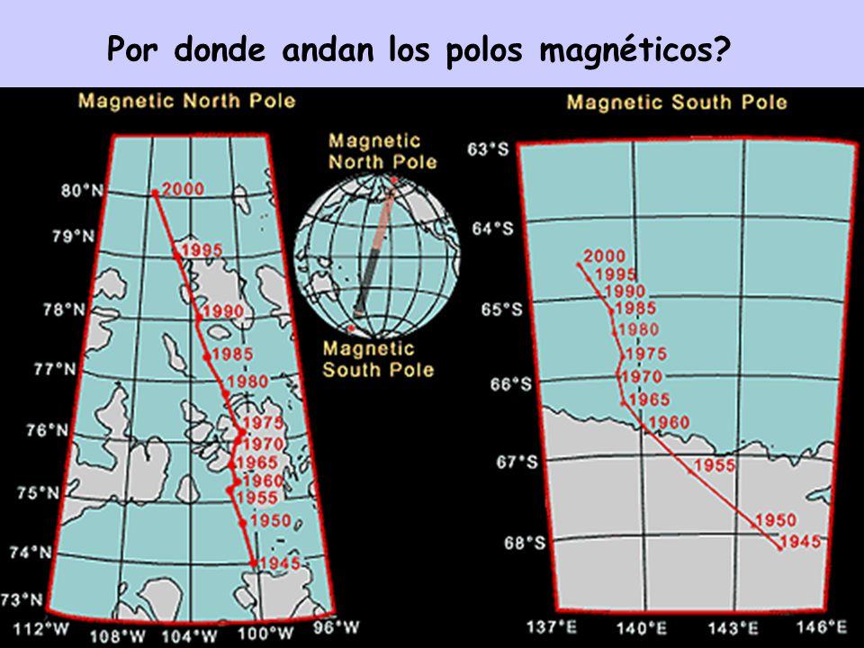 Por donde andan los polos magnéticos