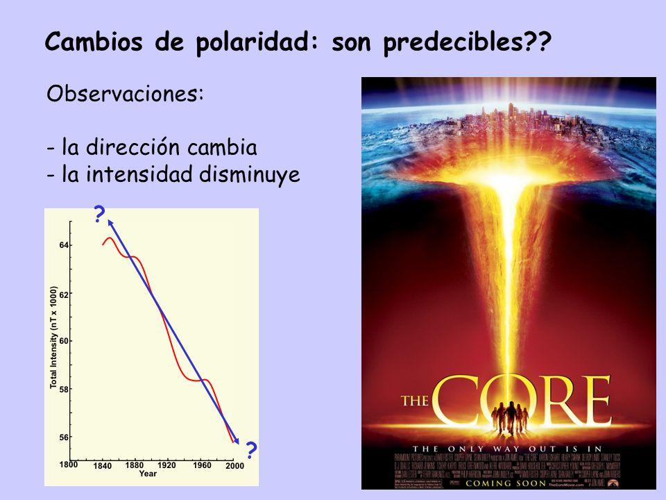 Cambios de polaridad: son predecibles